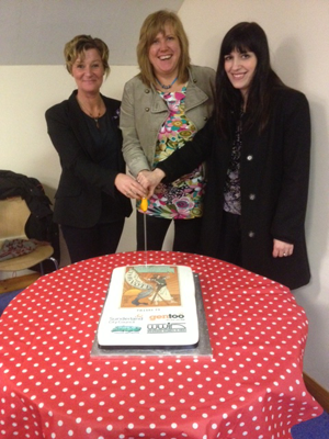 Mel (centre) meeting with Councillor Mary Turton (left) and Bridget Phillipson MP (right) on International Women's Day.